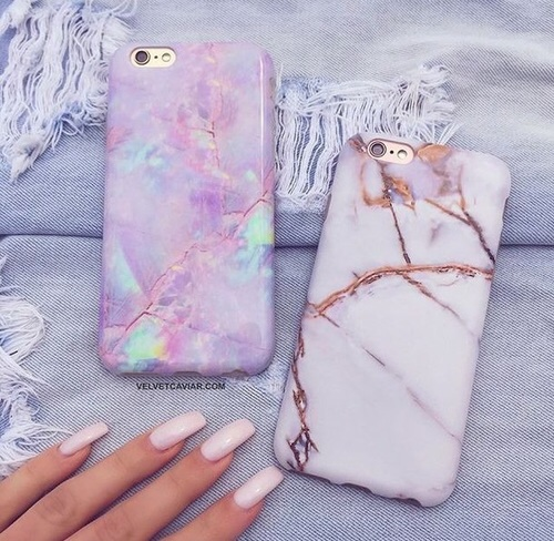 case, girly, iphone, nails, tech