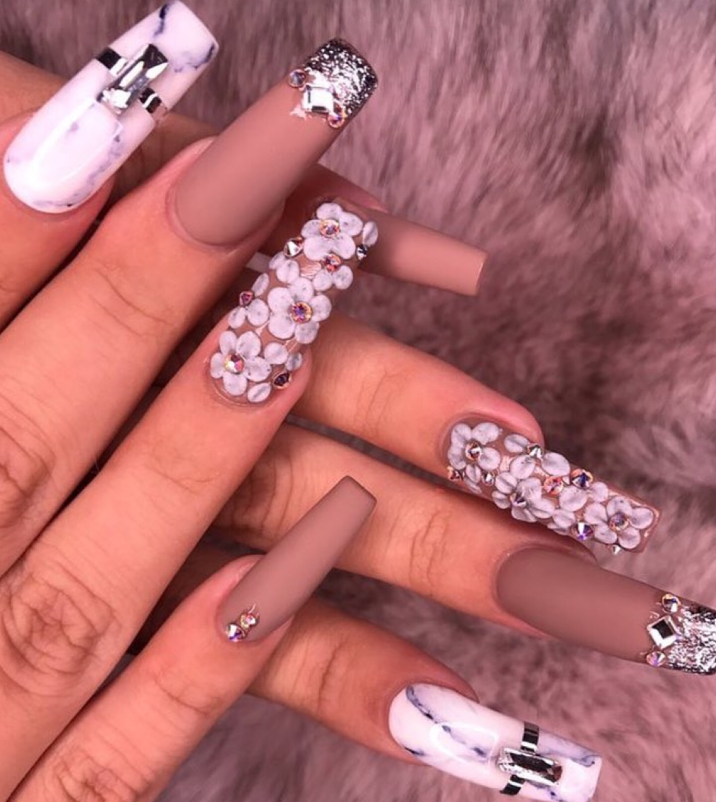 beauty, girly, inspo, lo, long nails