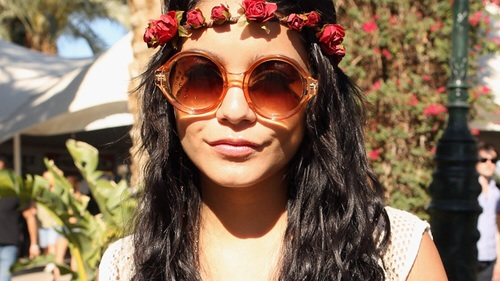 beautiful, brunette, coachella, fashion, flower