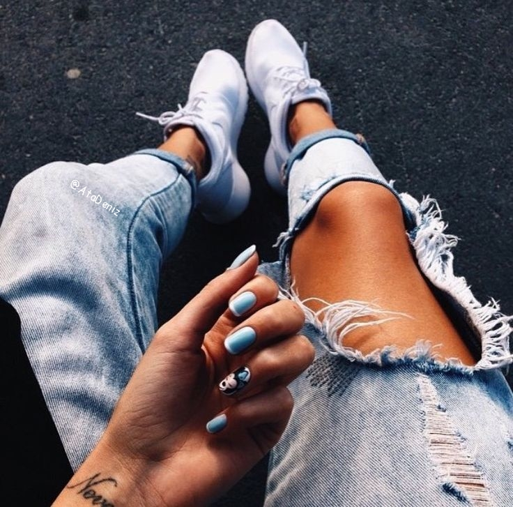 denim, grunge, nail art, nails, nike