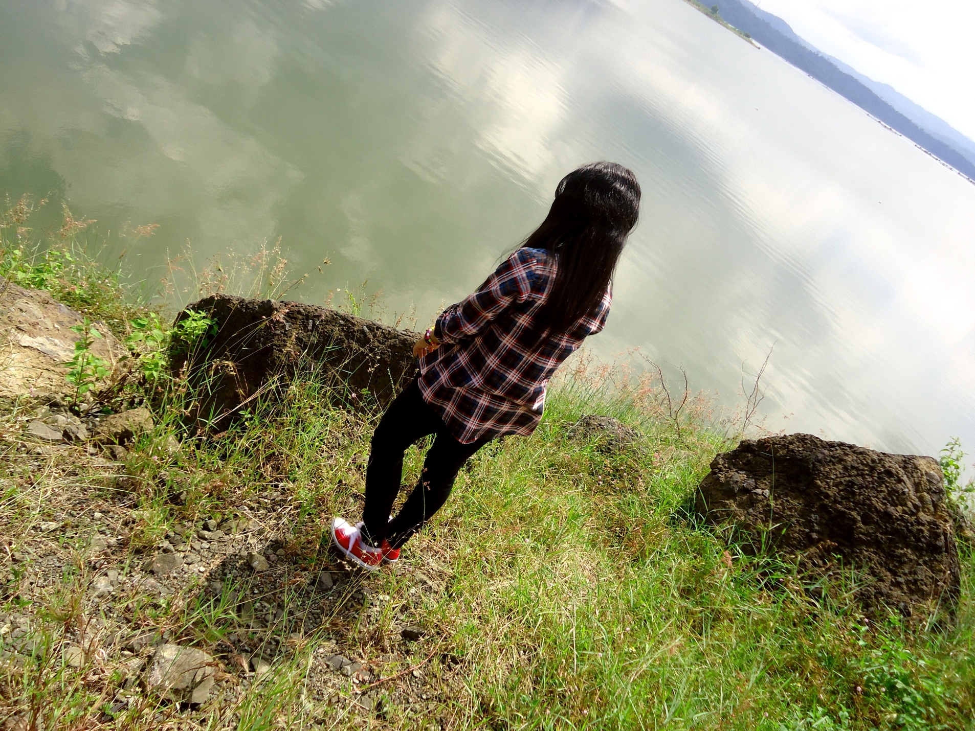 alone, favim, girl, nature, view