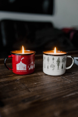 candle, candles, cozy, holiday, mugs