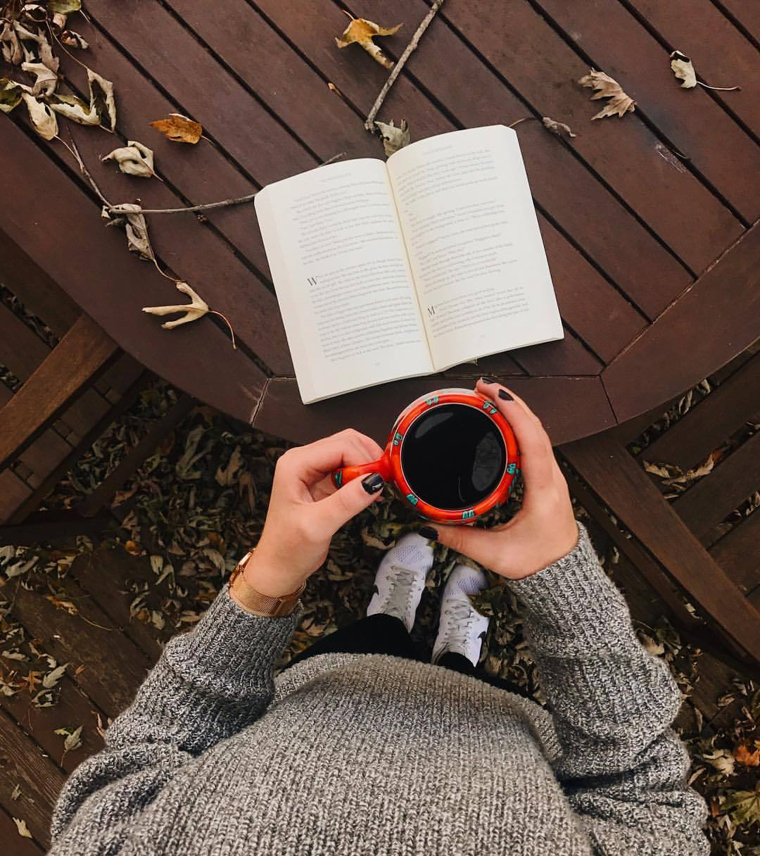 autumn, book, coffee, colors, fall