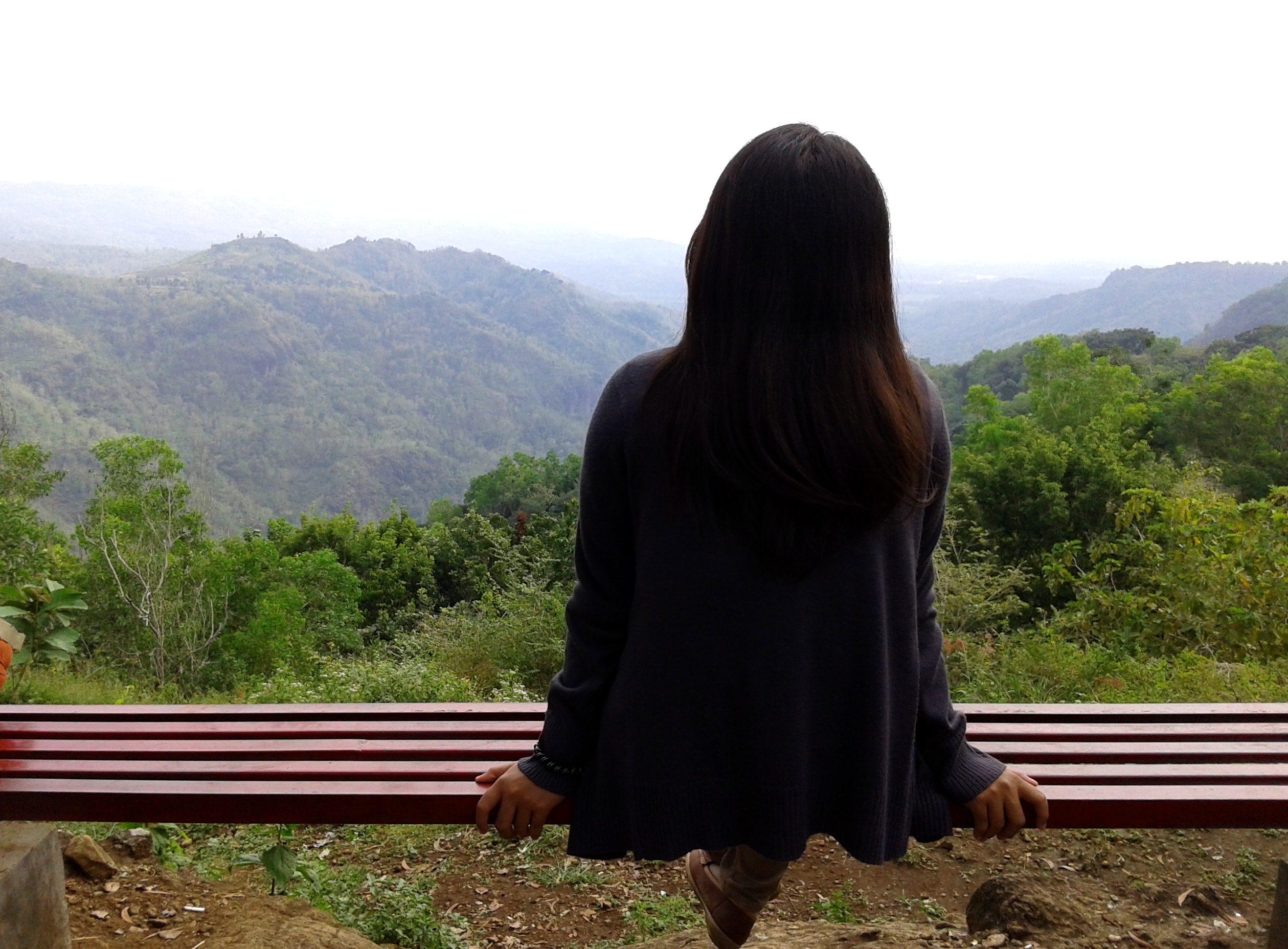 alone, favim, girl, hill, lake