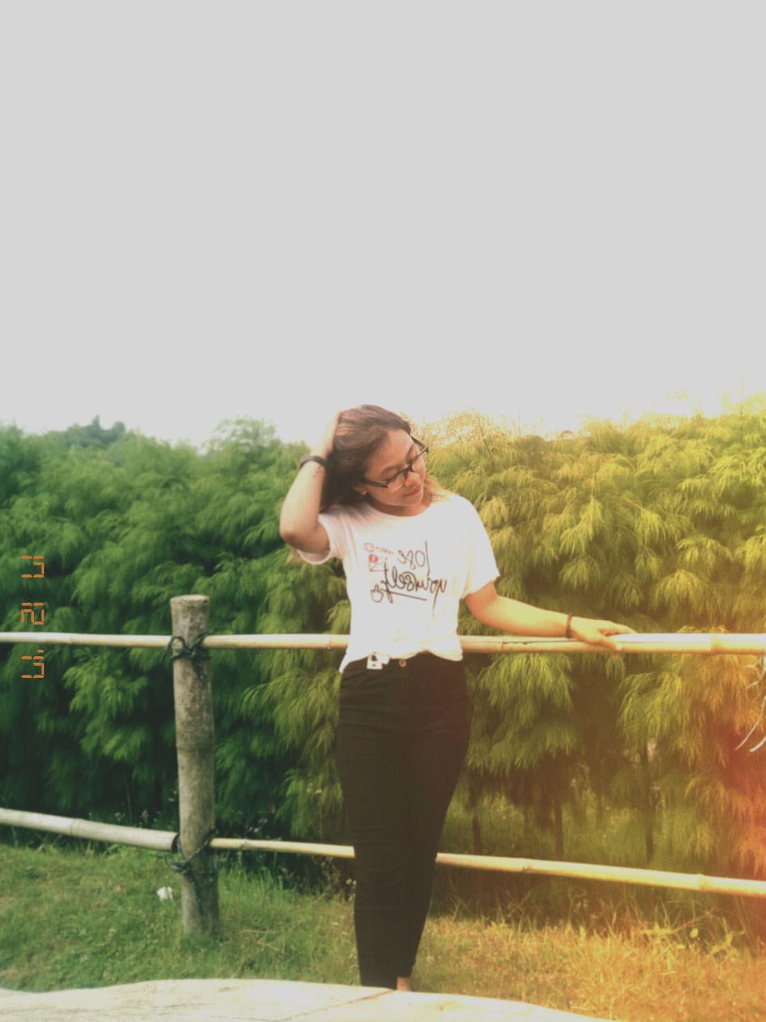 girl, girly, green, ootd, t-shirt