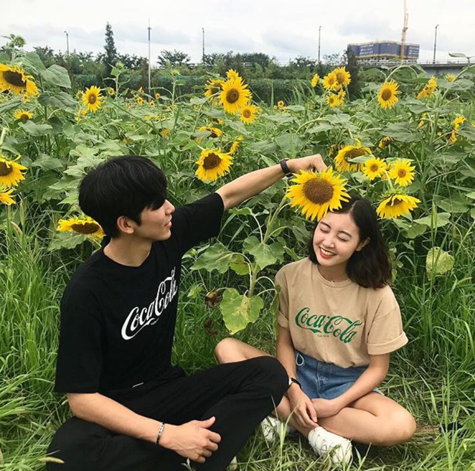 alternative, asian boy, couple, flower, goals