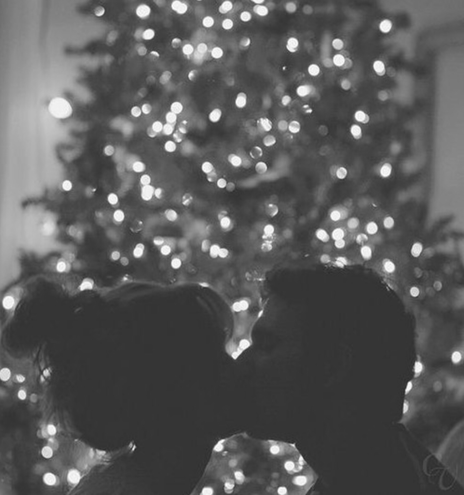 black and white, boy, boyfriend, christmas, couple