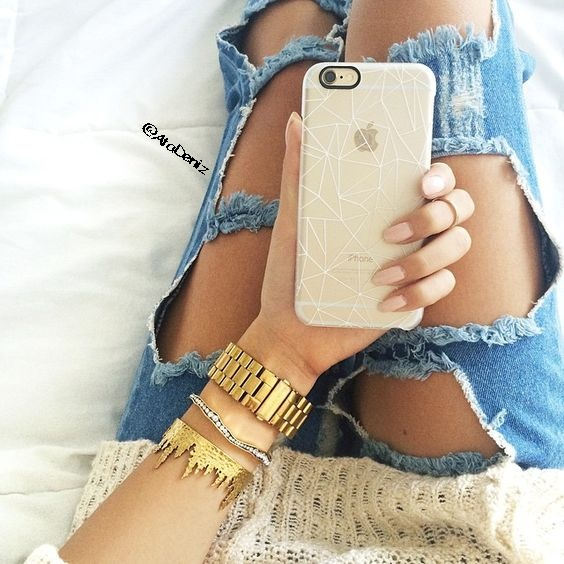 apple, bangle, denim, grunge, iphone