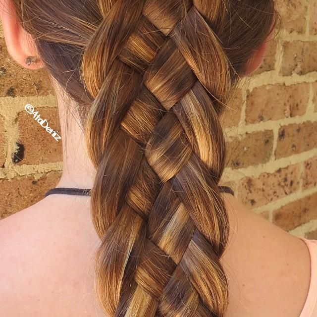 braid, long hair, pretty hairstyle, waterfall