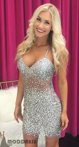 beading, cheap prom dress, dresses, formal dress, knee length