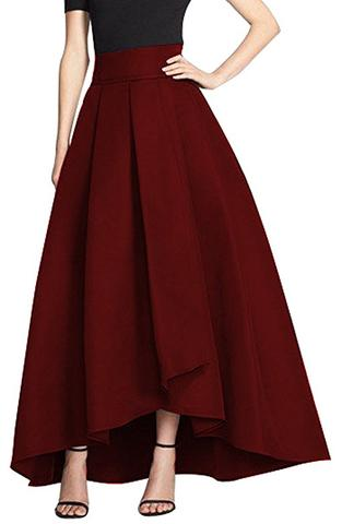 a-line, elegant, high-low, skirt, skirts
