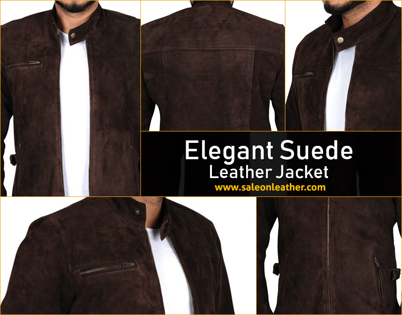 brown, distressed, elegant, jacket, leather