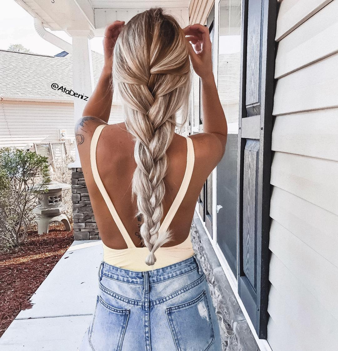 braid, hair, tattoo, top, waterfall