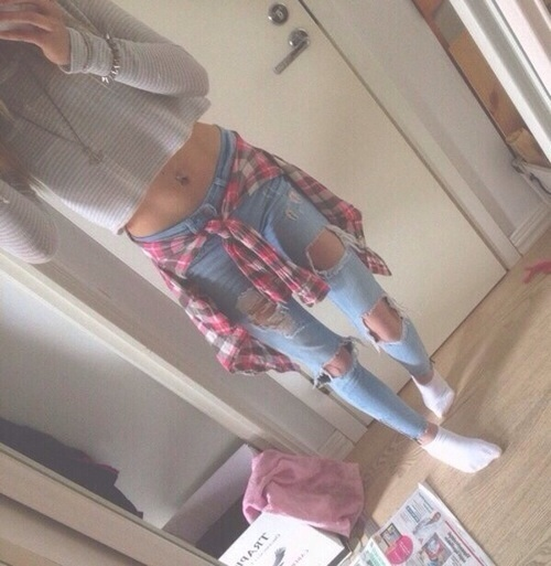 girl, girly, inspire, jeans, pinterest