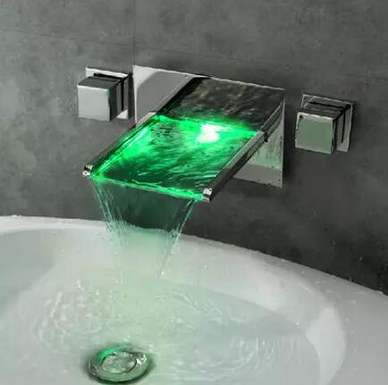 bathroom, contemporary, led, waterfall, Bathroom Sink Taps