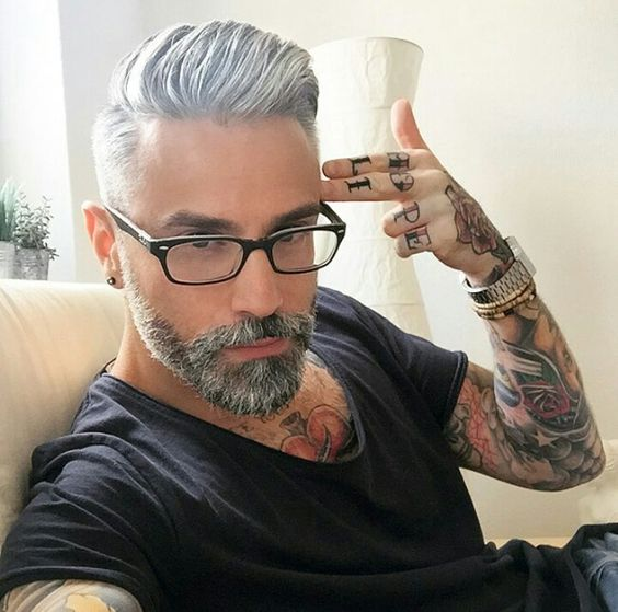boy, hair, hot, men, silver